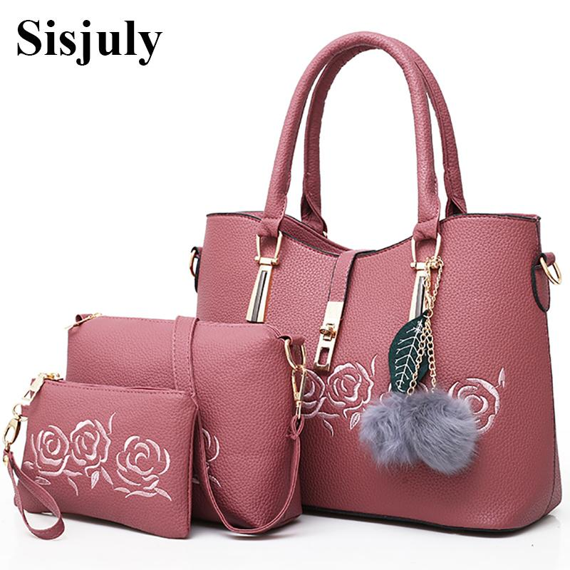 d845e1347159 Sisjuly Leather Bags Handbags Women Famous Brand Shoulder Bag Female Casual  Tote Women Messenger Bag Set Bolsas FemininaY1883106 Leather Purse Leather  Goods ...