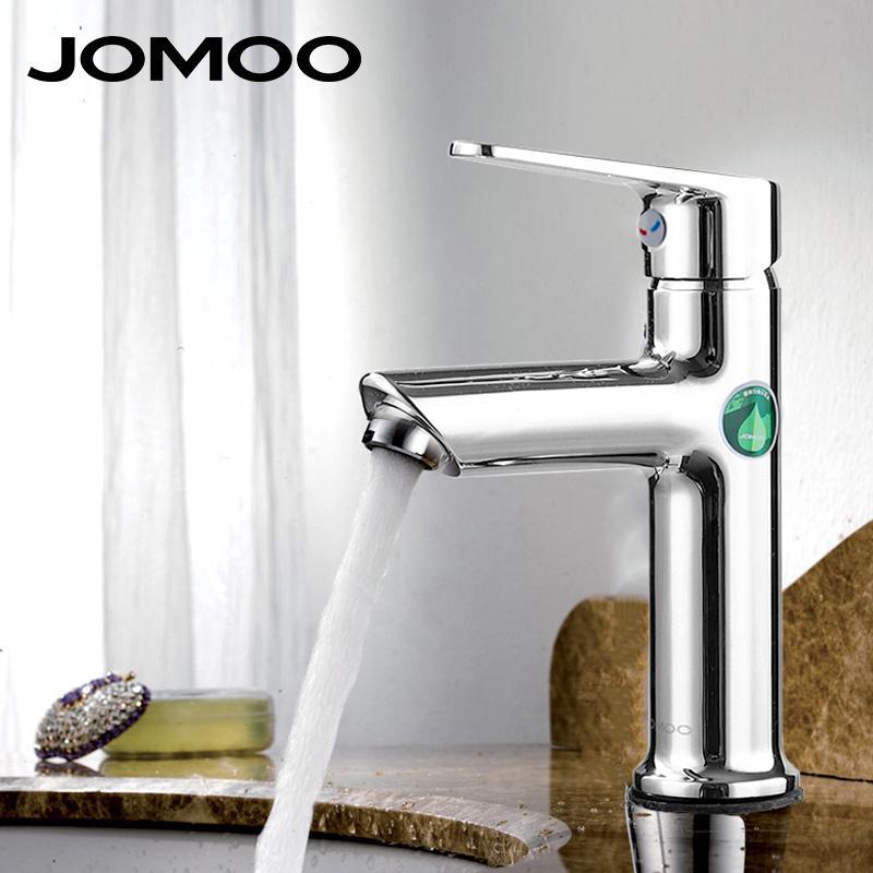 2018 Jomoo Bathroom Faucet Basin Faucet Mixer Tap Lead Free Silicone ...