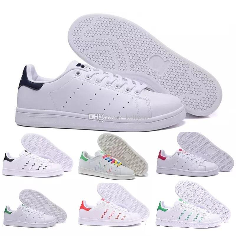 sports shoes c0b3c 47c86 2018 Raf Simons Stan Smith Spring Copper White Pink Black Fashion Shoe Man  Casual Leather Brand Woman Man Shoes Flats Sneakers Sports Shorts Shoe Shop  From ...