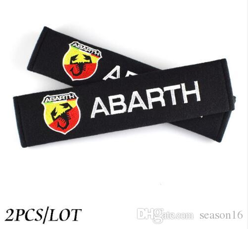Auto Car Accessories Seat Belt Cover case for Abarth 500 Fiat Universal Shoulder Pads Car Styling