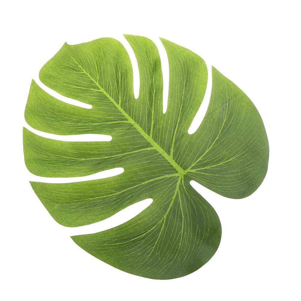 NOVA 20x18 cm Folha de Simulação de Folhas de Palmeira Tropical Artificial Para Luau Havaiano Partido Selva Praia Tema Decorações Do Partido