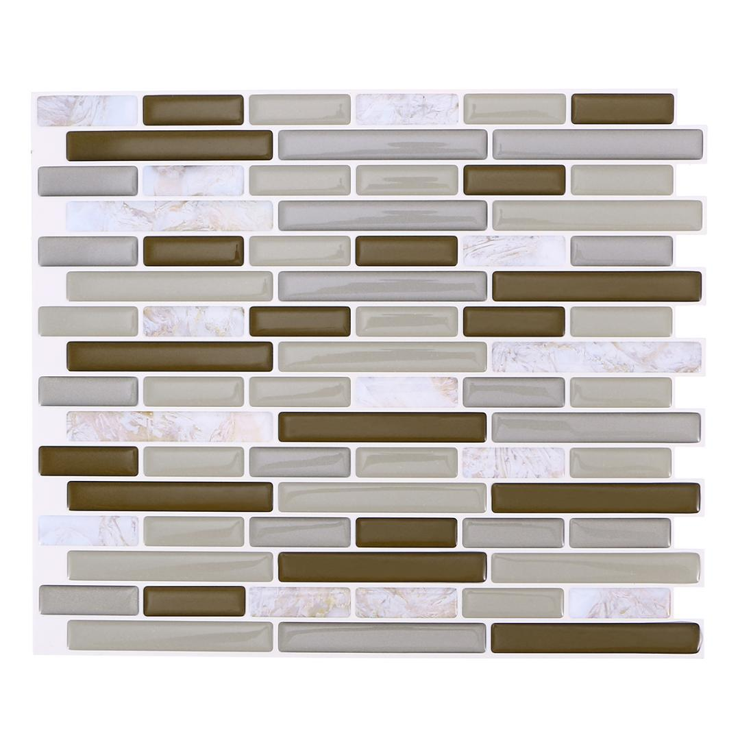 Schon Self Adhesive Wall Tile Removable Waterproof Long Marble Design Peel And  Stick Backsplash For Kitchen 28x23.5cm Modern Wall Decal Modern Wall Decals  From ...