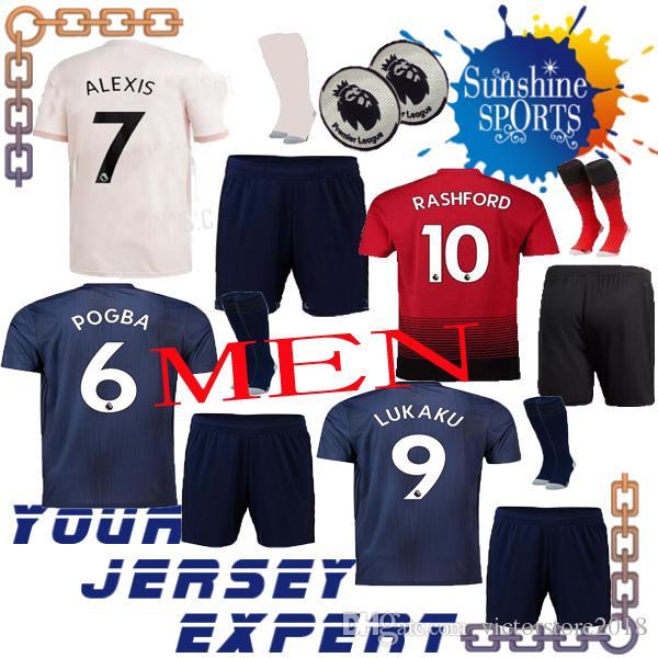 dee391f82 Manchester United ALEXIS KOHLER THIRD Soccer Jersey 18 19 Men Set ...