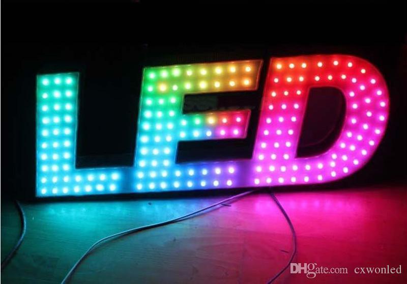 Digital LED Pixel Light 12mm WS2811 IC Full Color Pixel Modulo LED Luce DC 5V ingresso IPe RGB impermeabile