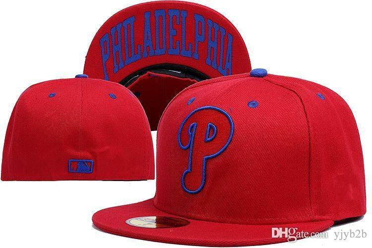 Yjyb2b 2018 Phillies Fitted Caps On Field Red Color Flat Brim Men S Sport  Team Baseball Full Closed Design Hats Bones Cheap Men S La Cap Flexfit Cap  From ... 63f7a8b6f949