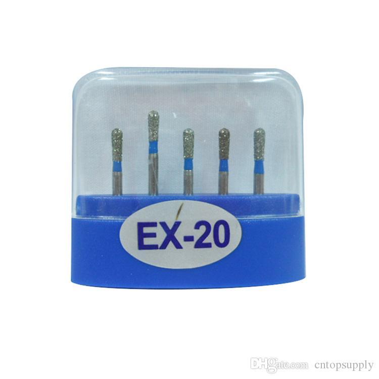 1 paquete 5 piezas EX-20 Dental Diamond Burs Medium FG 1.6M para pieza de mano de alta velocidad dental Muchos modelos disponibles