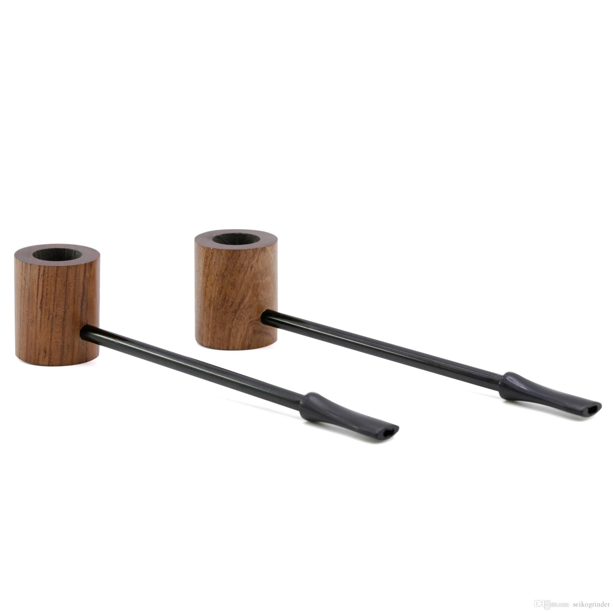 Free Shipping To Usa Length 15cm Straight Rosewood Wooden Smoking Pipe Long Wood Tobacco Pipes For Dry Herb