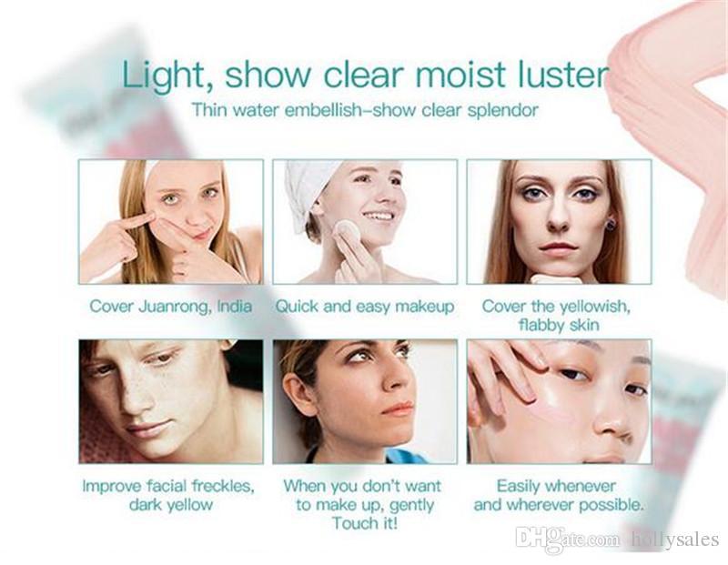 Face Makeup Base Face Liquid Foundation BB Cream Concealer Foundation Primer Easy to Wear Moisturizer Foundation gel DHL