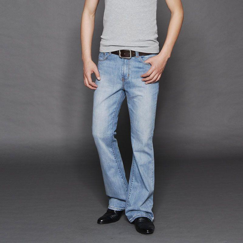 san francisco enjoy clearance price moderate price New arrival 2017 Men Light blue flared jeans Men s bell bottom denim pants  male Plus size jean pants Mid Waist 053006