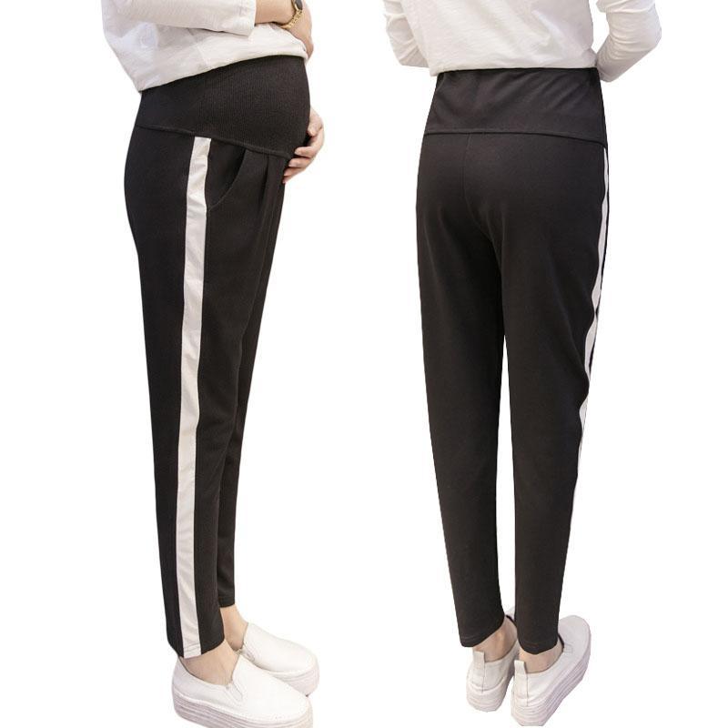 28db18b16 Compre Pantalones Casuales Para Mujeres Embarazadas Ropa Pantalones De  Maternidad Algodón Ropa Deportiva Ropa De Embarazo Gravida Pantalones  Sueltos De ...
