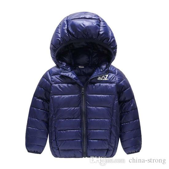 c9f1d90b5c42 Children Jacket Outerwear Boy Girl Autumn Warm Down Hooded Coat Kids ...