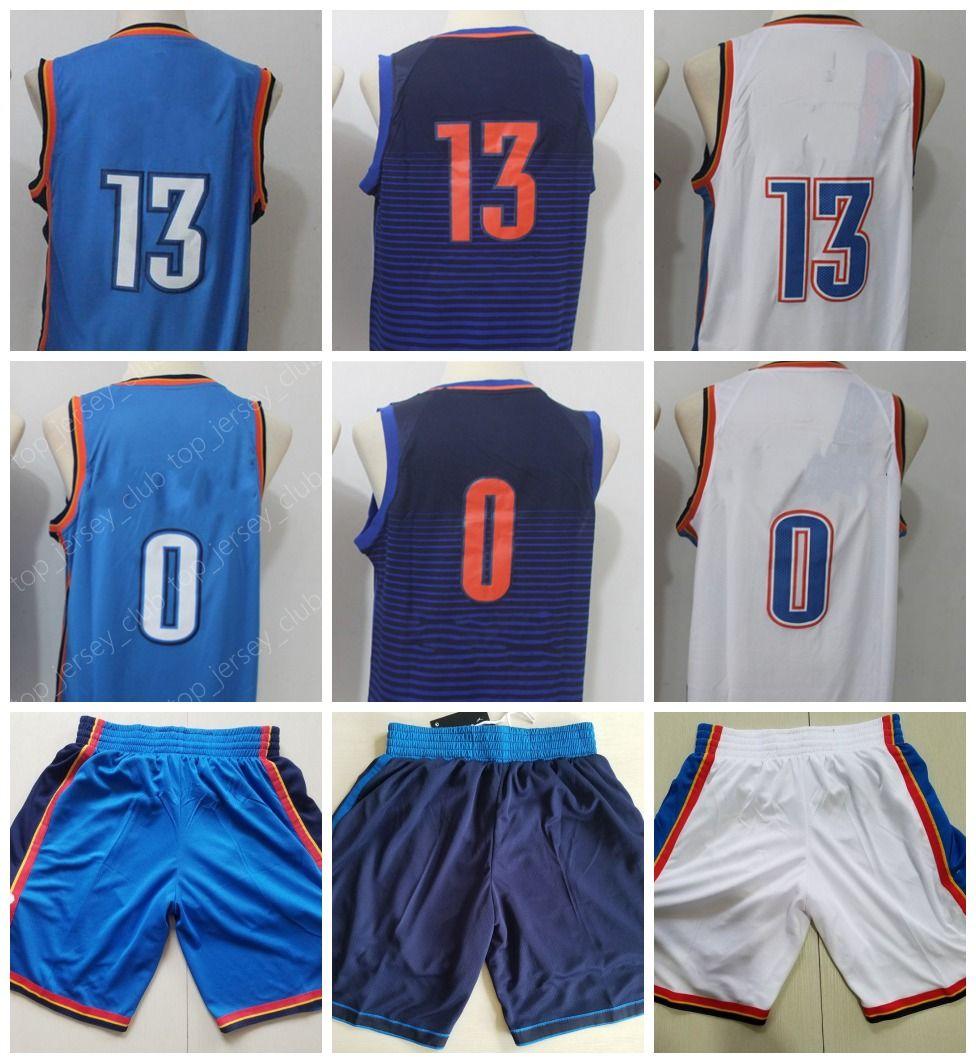 2018 OKC 2018 New Basketball Jersey 0 RW 13 PJ Men Women Youth With ...