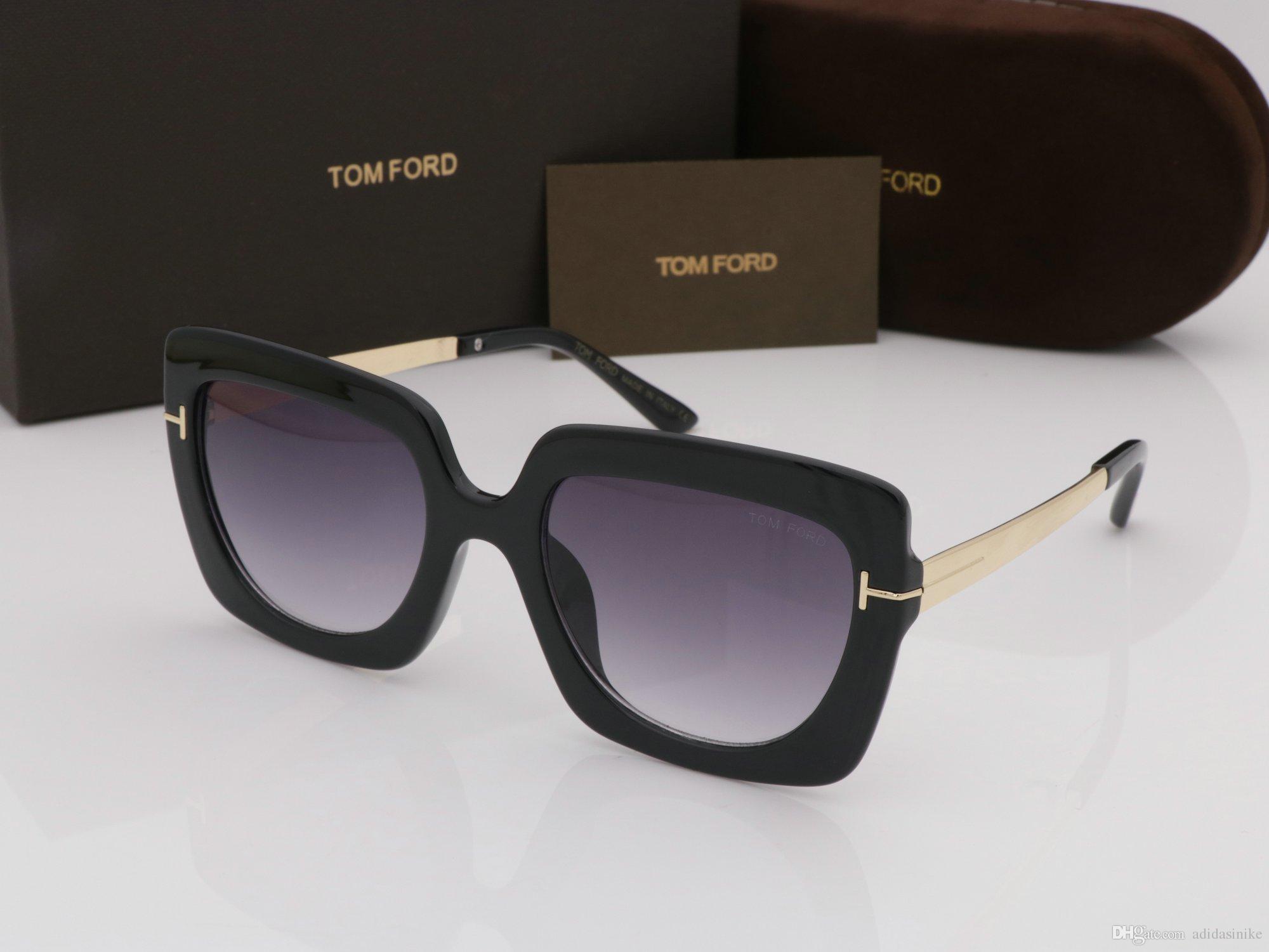 Compre Luxo NOVA Alta Qualtiy Nova Moda 610 Tom Óculos De Sol Para O Homem  Mulher Erika Eyewear Ford Designer Marca Óculos De Sol Com Caixa Original  Caixa ... 53ef5b2636