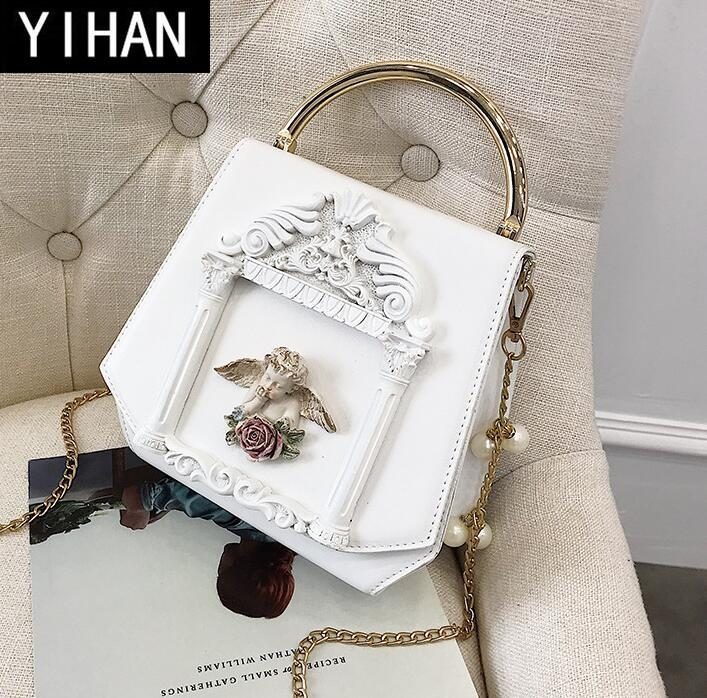 Factory brand women bag sweet and lovely angel decoration womens chain package trend literature and art women's leather handbag fashionable