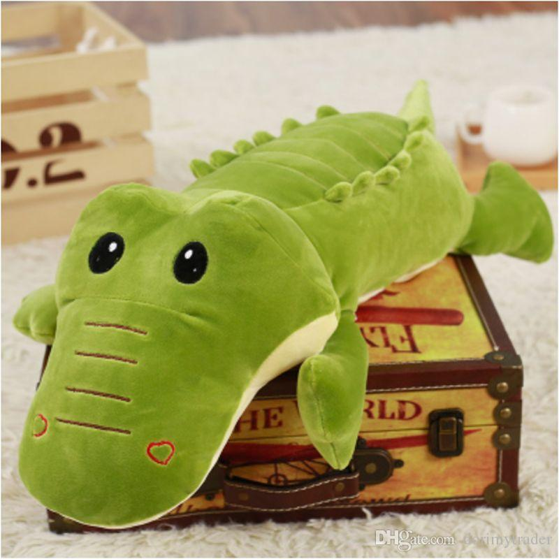 Dorimytrader 2018 Cuddly Soft Animal Crocodile Plush Pillow Stuffed Cartoon Lying Alligator Toy Doll 90cm 110cm DY61983