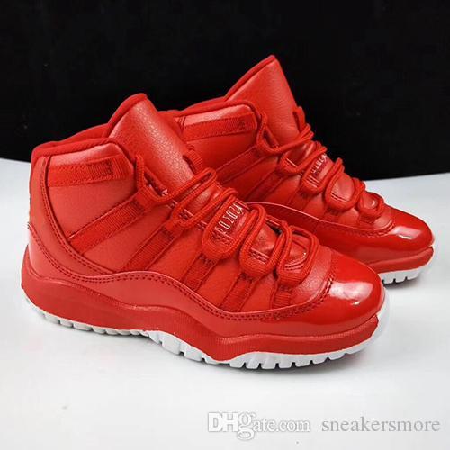 süß 28-35 Kinder 11 Jugend Basketball Schuhe Turnschuhe Jungen Mädchen Kinder schwarz rot weiß Legende Gamma blau 72-10 11s XI US 11C-3Y