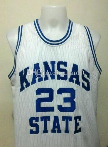 f40888c6f942 23 Mitch Richmond Kansas State College Basketball Jersey Embroidery ...
