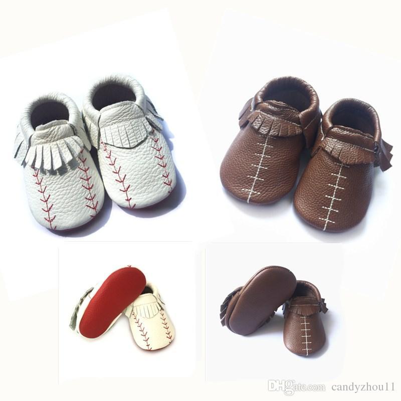 6b8777412 Compre Frete Grátis / Baseballfootball Projeto O Menor Preço Sapatos De  Couro Kinghoo Mocassim Bebê Sapatos De Couro Genuíno Sapatos De Bebê De  Candyzhou11, ...
