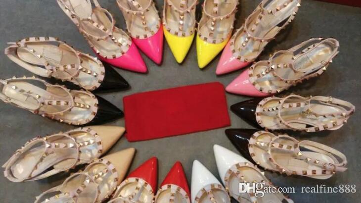 ee8a1923ca19 AAAAA Women Classic 2 Straps 10cm High Heels 3 Straps 6.5cm Sandals ...