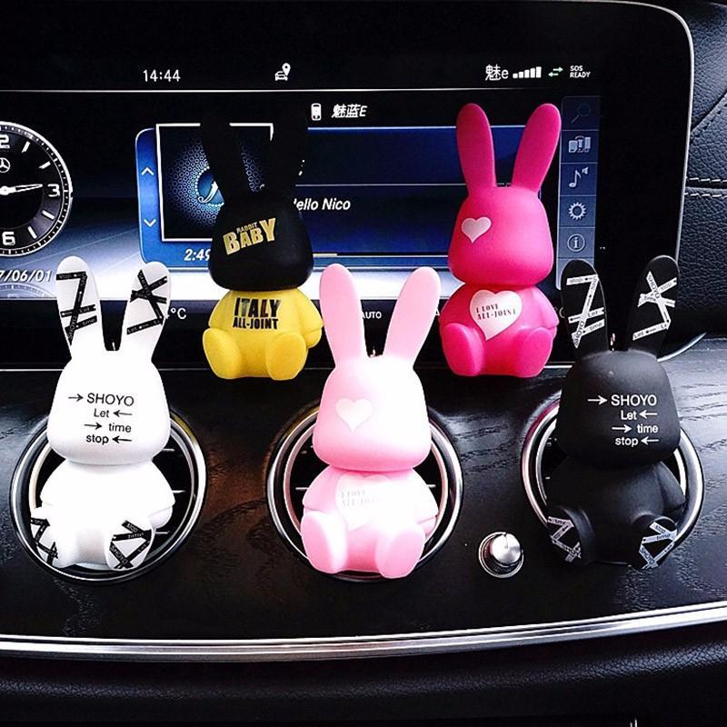 2019 Baby Rabit Car Air Freshener Air Outlet Perfume Clip Car