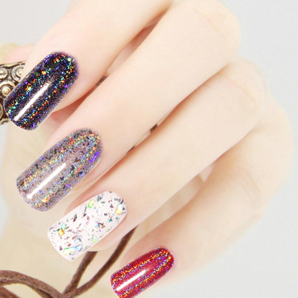Outtop 1g Galaxy Holo Flakes Nail Sequins Bling Laser Powder Glitter ...