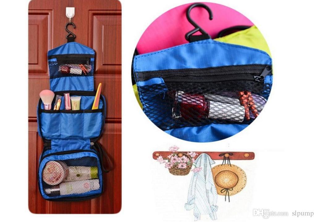 Reise-Mate-Beutel-kosmetischer Beutel-Nylonverfassungs-Beutel-Spielraum-Toilettenartikel-hängende Geldbeutel-Halter-Schönheits-tragbare Wäsche bilden Beutel-Organisator mit Haken