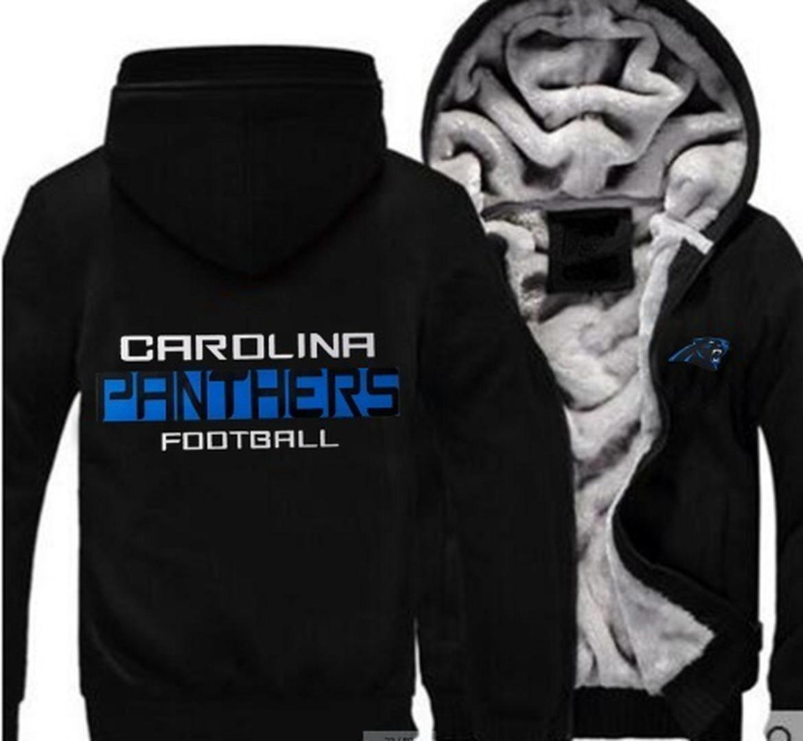 2018 New Carolina Panther Sweatshirt Warm Fleece Thicken Jacket ... 372c05ed8