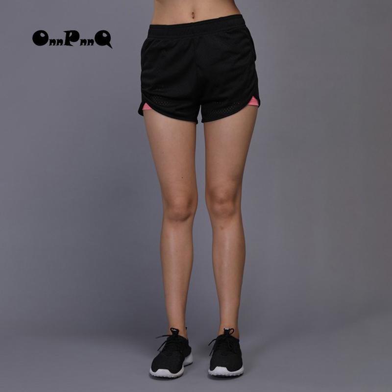 7c7ae28111fc6 Compre Mujeres Deporte Pantalones Cortos De Yoga Pantalones De Gimnasia Al  Aire Libre Correr Corto Deporte Corto Fitness Negro Running Pinturas  Mujeres ...