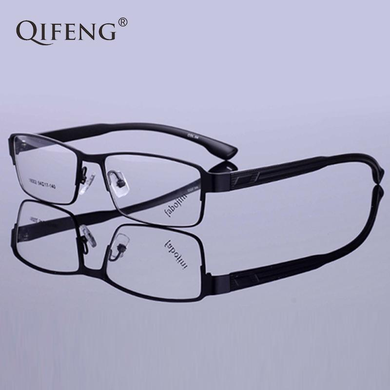11d100a3bea QIFENG Spectacle Frame Eyeglasses Men Computer Optical Prescription ...