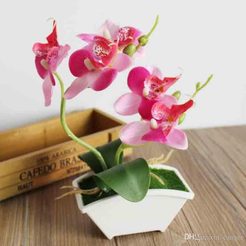 Online Cheap Wholesale Artificial Flower In Pots Artificial Potted