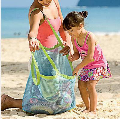 Nuevo Llega Ambiente Durable Fuera de la Playa Bolsa de Malla Bolsa de Almacenamiento para Niños Juguetes Ropa Bolsa de Toalla Colección Nappy Tamaño Grande