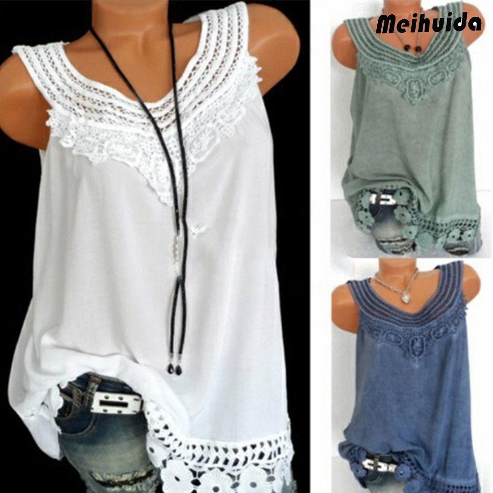 0530f9f2dca5f9 Fashion Women Summer Loose Sleeveless Lace Tank Tops Casual Plus Size S-XXL  Summer Clothing Online with  30.5 Piece on Bestshirt006 s Store