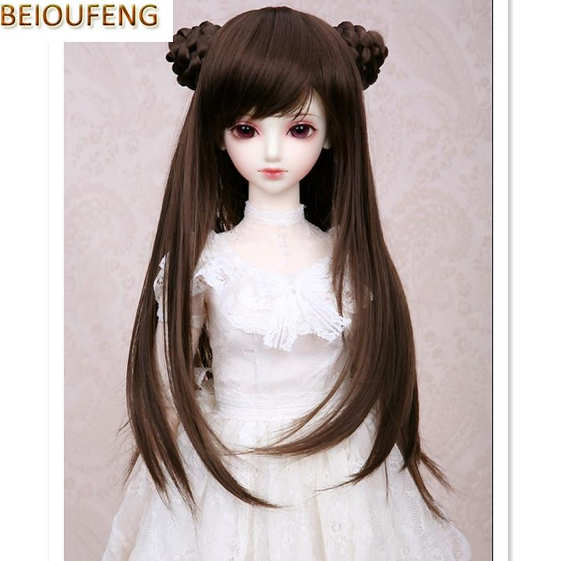Beioufeng 1 3 1 4 1 6 Bjd Sd Doll Wigs High Temperature Wire Long