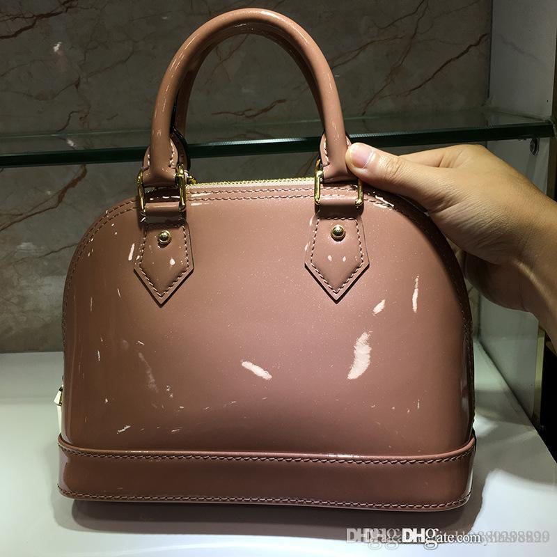2a86b55682c8 Top Quality Alma BB Patent Leather Classic Tote Crossbody Bags For Women  Shoulder Handbags Purse Alma PM Damier Ebene Ladies M53151 PM MM BB Womens  Purses ...