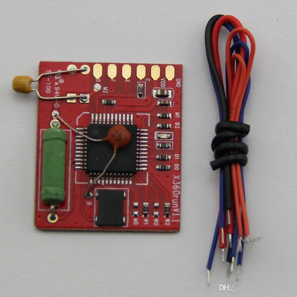 New RGH Glitcher Red Board with 96MHZ Crystal Oscillator X360run V1 1 for  XBOX 360 Slim Chip IC High Quality FAFST SHIP
