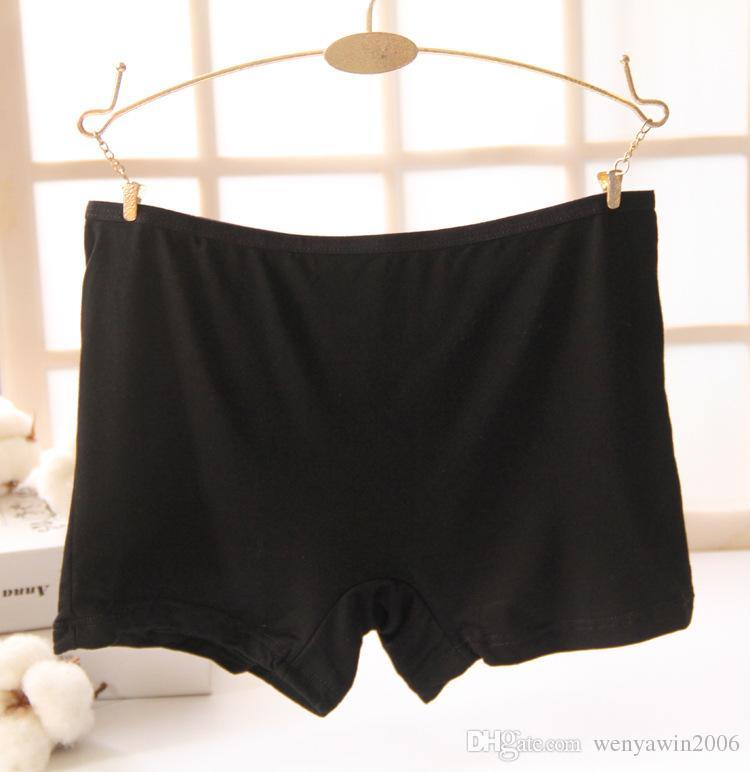 bamboo fiber women's safety pants women lace boxer briefs Boyshort medium waist underwear for ladies