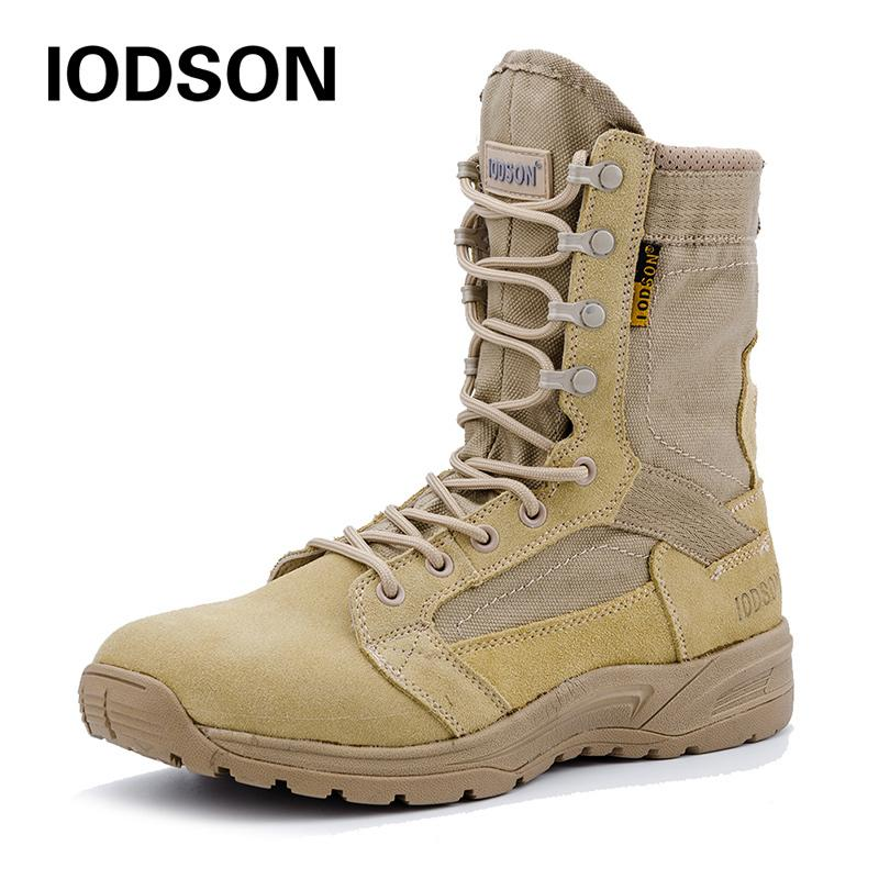 Shoes Army Boots Men Military Boots Spring Summer Army Boots Tactical Black Brown Men Casual Shoes Solid Anti-slip Male Casual Sneaker Basic Boots