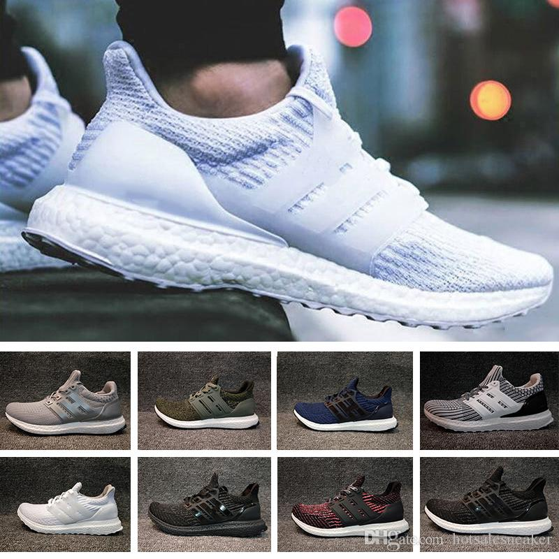 With Box 2018 New Ultra Boost Black White Deep Blue Grey Green Mens Womens  Running Shoes Top Quality Boost Size Eur 36 45 Best Womens Running Shoes  Running ...