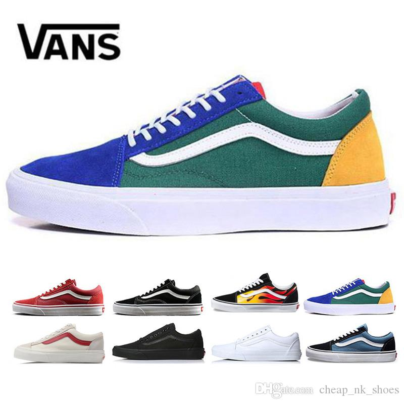 0ec809be1f Designer Vans Old Skool Casual Shoes Men Women Running Shoes Yacht Club  White Black Sneaker Trainer Mens Canvas Sports Jogging Outdoor Shoe Pumps  Shoes ...