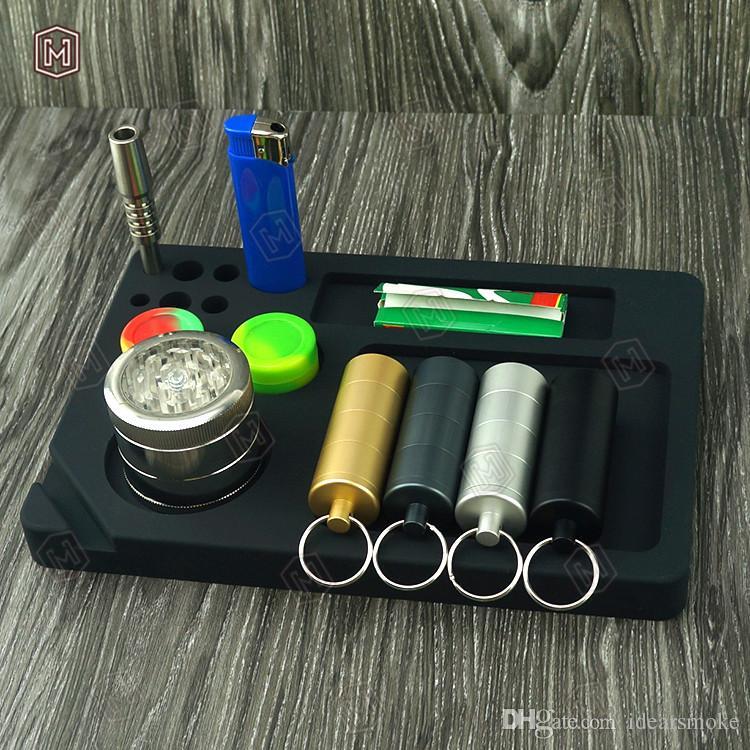 سيليكون المتداول صينية مقاومة للحرارة مستطيل التبغ سيليكون صحن صينية dab حصيرة السجائر dab النفط تلاعب التدخين الاكسسوارات بالجملة- f023