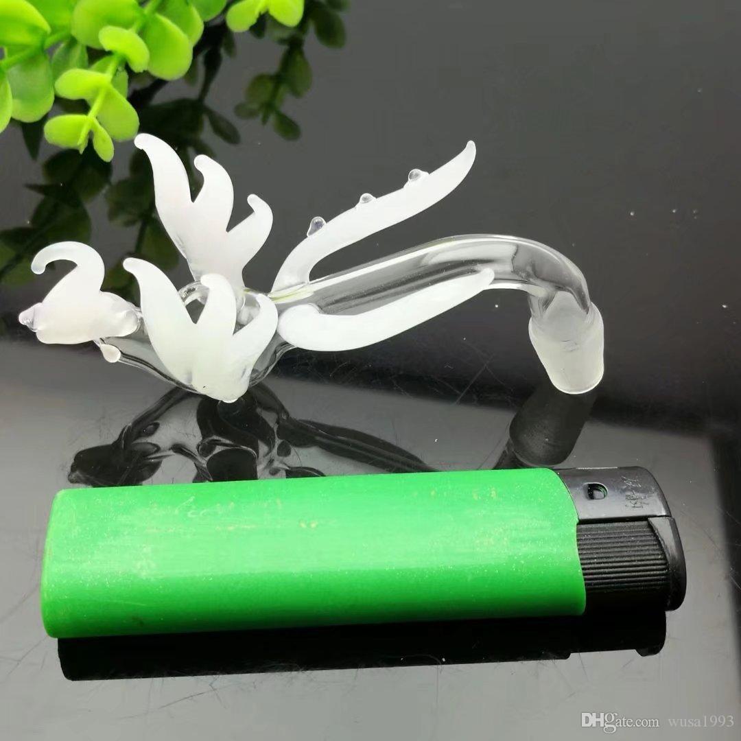 Blanco phoenix pot Bongs al por mayor Quemador de aceite Tubos Tubos de agua Tubería de vidrio Plataformas petroleras Fumadores, envío gratis