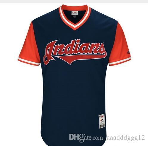a7c33b9026d 2019 Men S Cleveland Indians Francisco Lindor Mr. Smile Jerseys Size S 4XL  From Aaadddggg12