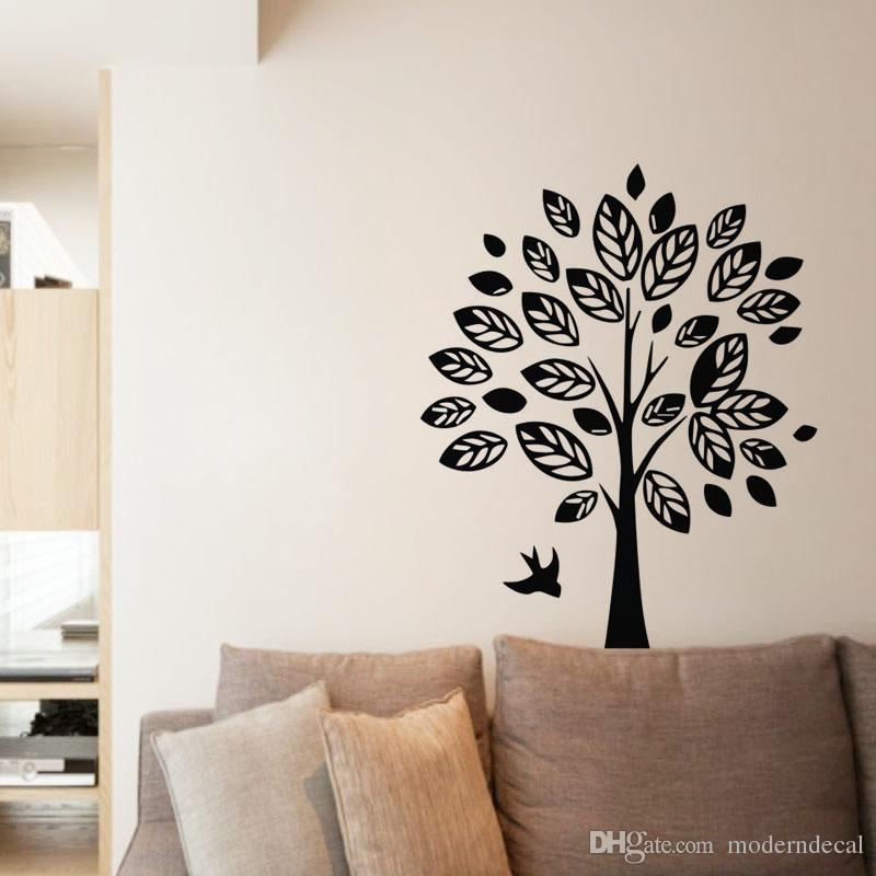 30151e9cfbf Birds And Tree Wall Stickers Decorative Vinyl Decals Creative Home Decor  Wall Art Stickers Adhesive Home Decoration Wall Stickers Home Sticker From  ...