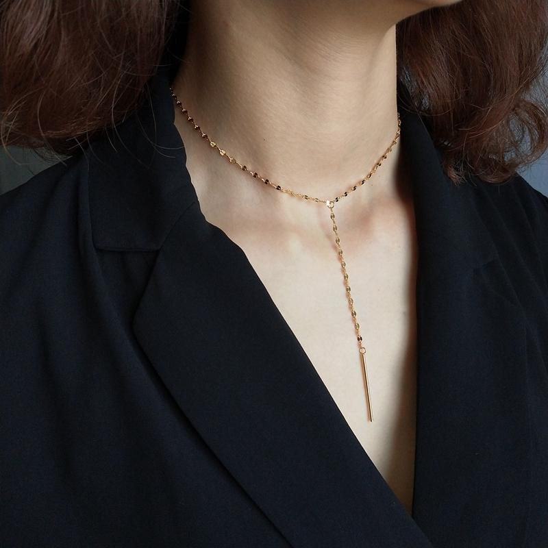 e25504119bca Compre Cadena De Labios Louleur 925 Moda Plata De Ley Gargantilla De Oro  Para Las Mujeres Collar Joyería Y1892806 A  26.98 Del Zhengrui02