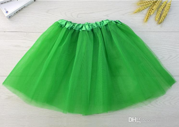 i di alta qualità bambini di colore tutu gonna abiti da ballo tutu morbido vestito di balletto gonna 3 strati bambini pettiskirt vestiti 10 pz / lotto.