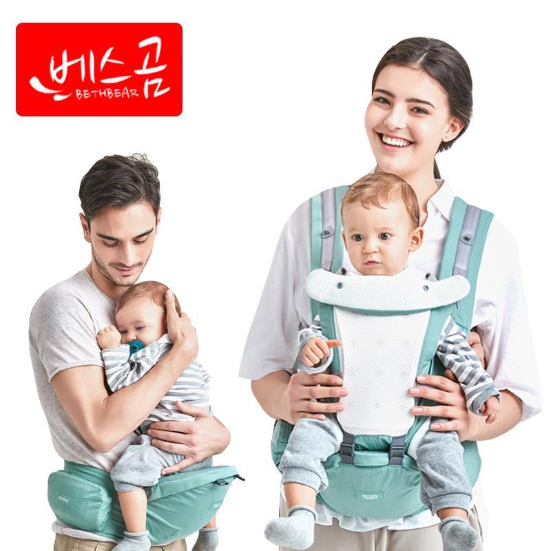 baf28357f82 2019 Beth Bear Baby Carrier Hipseat Mochila Infantil Canguru Baby Backpacks Sling  Carriers Ergonomic Mochila Newborn 0 36 Months From Cover3085