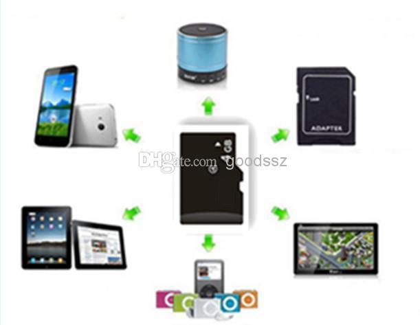 100 ٪ ريال TF بطاقة ذاكرة 4GB مع محول للكمبيوتر اللوحي MP3 / 4/5 الهاتف