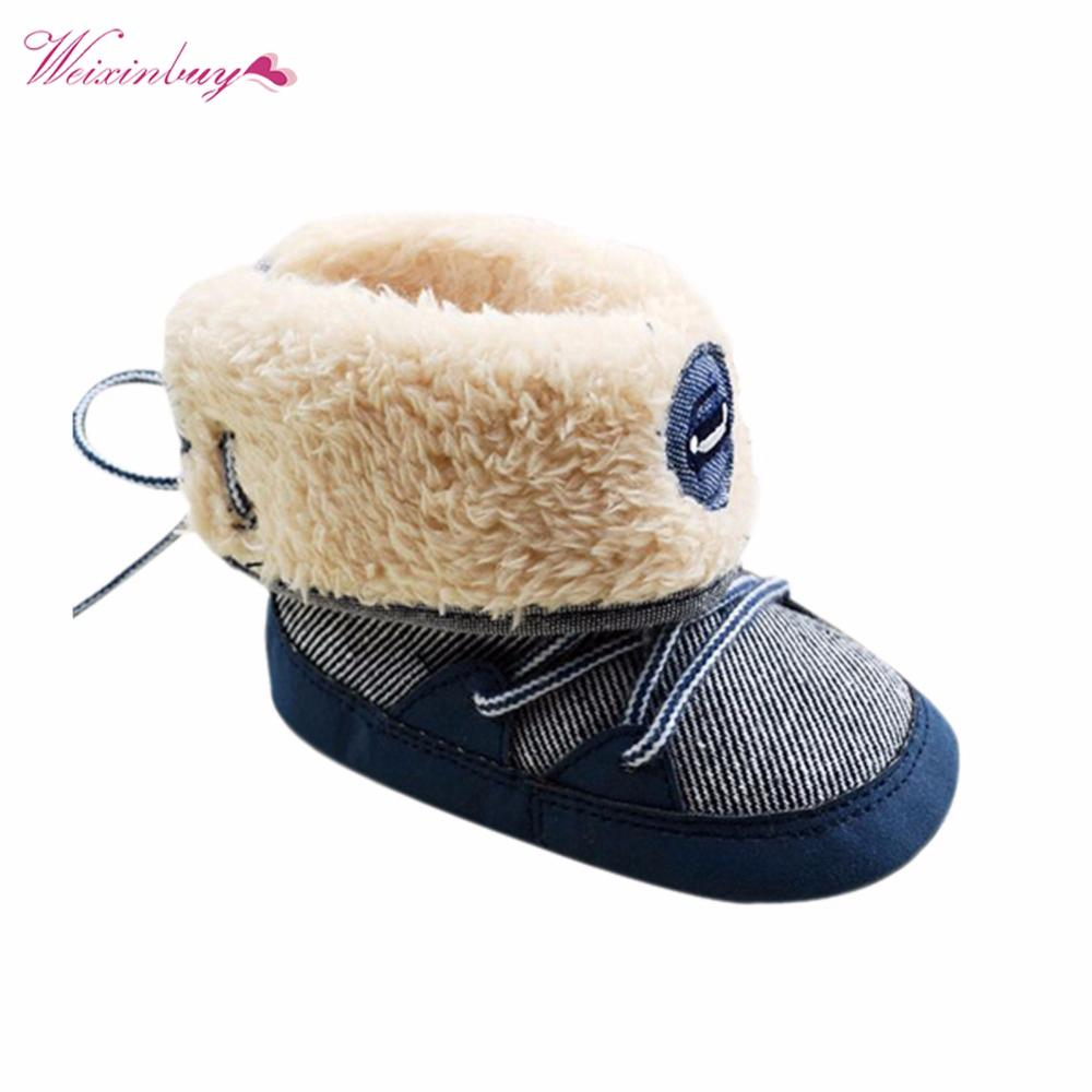 3efc2f58f084 Winter Warm Baby Boy Snow Boots Lace Up Soft Sole Shoes Infant Toddler Kid 0  18 M XD Toddler Girls Riding Boots Girls Toddler Boots From Curd