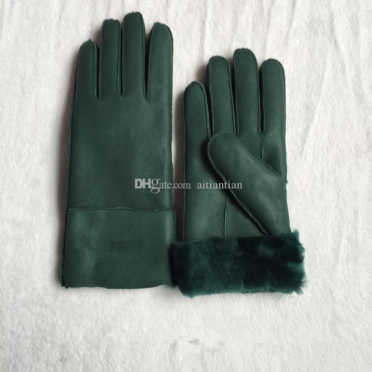 Livraison Gratuite - Haute Qualité Dames Mode Casual Gants En Cuir Gants Thermiques Gants de laine pour femmes dans une variété de couleurs