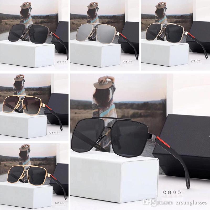3f8c7a59d3 Compre Prada P0805 Diseñador De La Marca De Gafas De Sol Para Mujer Gafas  De Sol Para Mujer Gafas De Sol De Los Hombres Diseñador De La Marca De  Protección ...